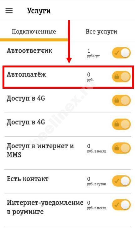 Изображение - Как отключить автоплатеж на счет билайн от сбербанка Kak-otkliuchit-avtoplatezh-3
