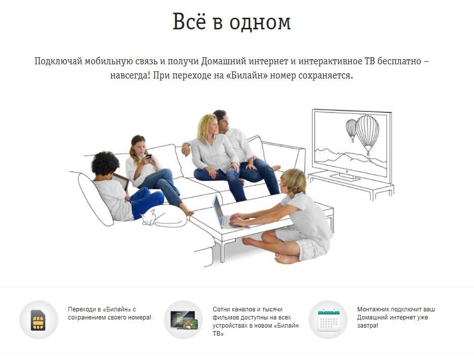02d9a2630a8c8 Интернет за 1 рубль Билайн — подключить домашний Интернет за рубль